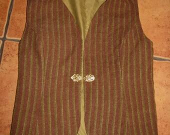 Vintage VEST Tweed  WAISTCOAT wool  decorative hook