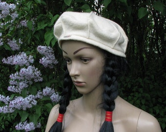 Vintage BERET cap German sporty HAT  MSL Mayser Sports Line wool hat