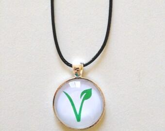 Vegan Necklace + Free Shipping - vegan jewelry, vegan pendant, vegetarian necklace, vegetarian jewelry, animal lover