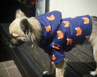 Fox Dog Hoodie, Dog Coat, Dog Parka, Small Dogs