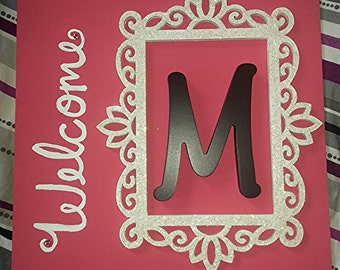 Monogrammed Door Hanger (customizable)