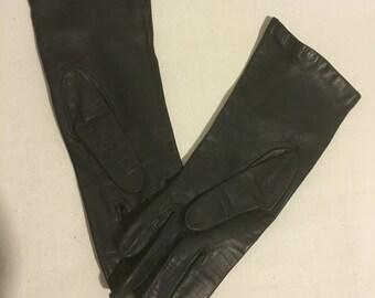Vintage Black Gloves by Superb Size 6 1/2