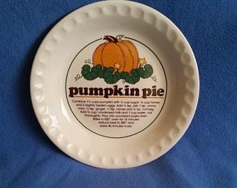 Pumpkin Pie Dish with Recipe