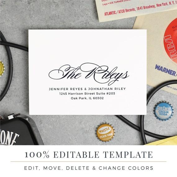 A7 envelope template printable wedding envelope word or for A7 envelope template word