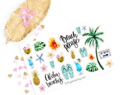 Summer sticker, Aloha for kikki k, filofax, erin condren or Travellers Notebooks