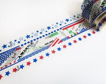 America Washi Tape Sampler, Masking Tape Sampler für kikki k, filofax, Happy Planner or Erin Condren