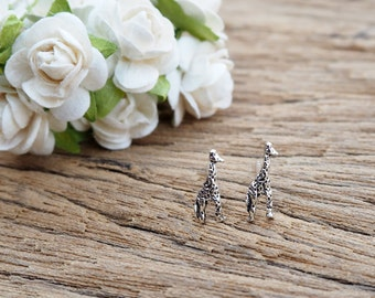 A Pair of Giraffe Stud, Giraffe Earrings, 925 Sterling Silver, Animal Jewelry, Everyday Jewelry, Birthday Gift - SA75