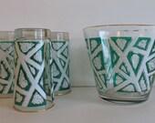 Vintage Barware Green Tum...