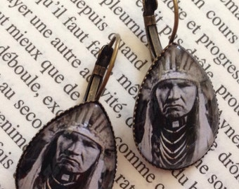 """Earrings - """"Typical Nez Perce"""" (Edward S. Curtis)"""