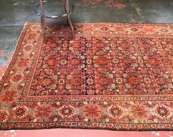 "Antique Persian Rug 4'7""x7'0"" Magical Malayer c1920s"