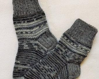 Knitted childrens socks,Wool socks for children,Striped socks,Slippers