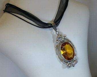 Nostalgic pendant silver 835 with citrine SK907