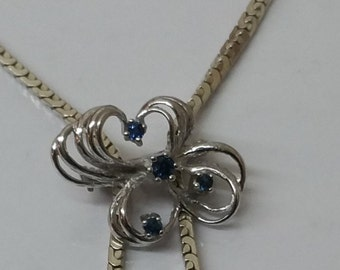 Chain slider antique silver 835 sapphires SK776