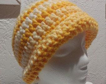 Sunshine Yellow Striped Hat