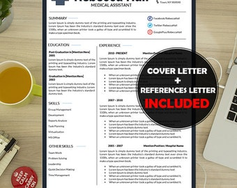 medical resume template medical cv resume cover letter modern health care resumes