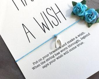 Wish bracelet, Friendship bracelet, Wishbone, Best friend gift, Gift under 10, Cute gifts, Gift for friend, Gift ideas, Wishing bracelet,A52