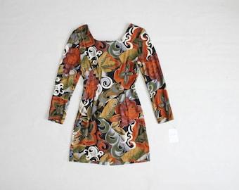 90s floral dress | ethnic dress | long sleeve dress