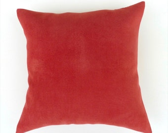 Raspberry Faux Suede, Easy Care Cushion /  Pillow Cover. Decorator Raspberry Accent Cushion Cover. Berry Shades. 47 / 47 cm