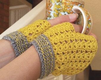 Crochet fingerless gloves, wool fingerless gloves, women's gloves