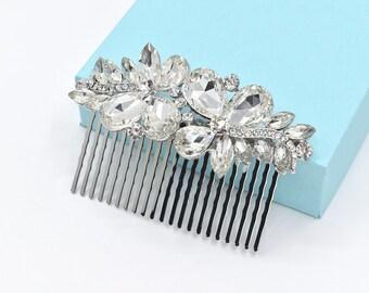 Bridal Hair Comb Crystal Wedding Hair Comb Silver Wedding Headpieces