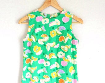 1960's Summertime Fruit Slice Dress
