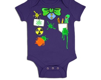 Mad Scientist Costume baby grow