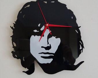Jim Morrison acrylic clock