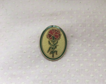 Red Carnation Lapel Pin