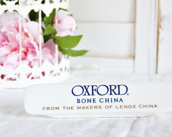 Oxford Bone China Advertising Sign: Oxford Store Plaque, Oxford China Display, Oxford Store Display