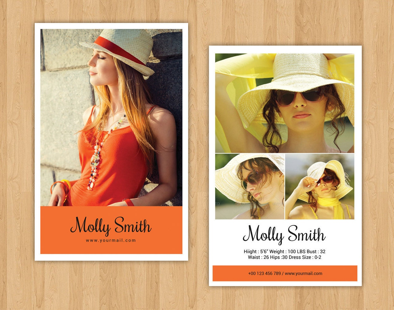 Modeling comp card template model comp card ms word for Free model comp card template psd