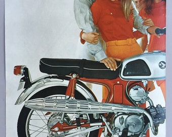 1967 Honda Roadster Motorcycles Double Page Print Ad