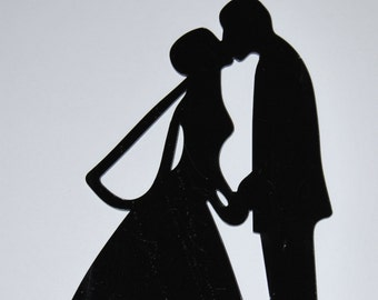 Bride and Groom cake topper, Wedding cake topper, Anniversary cake topper, love cake topper.