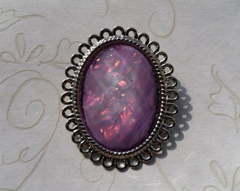 Purple Opal Brooch