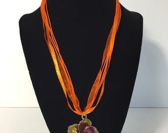 Tropical Hibiscus Necklace