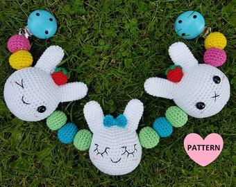 Bunny Stroller Mobile PDF Pattern, amigurumi, crochet