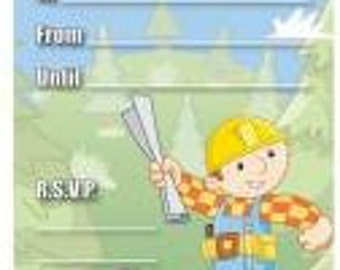Bob the Builder Invitations w/ Envelopes  (20ct each)