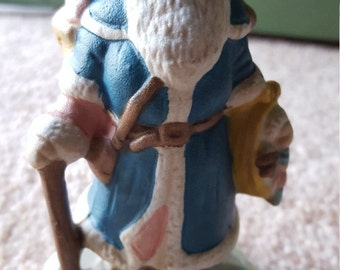 SALE! Santa through the years - The Victorian Santa hand painted porcelain figurine 4""