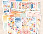 Sunset Garden - Planner sticker Kit, 5 pages / for the Erin Condren Vertical, Horizontal, Happy Planner