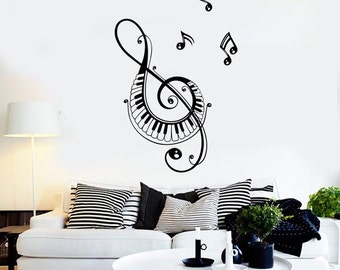 Wall Vinyl Music Notes Song Singing Guaranteed Quality Decal Mural Art 1526dz