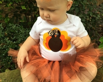 Thanksgiving outfit, Baby girl thanksgiving outfit, Turkey outfit, Baby first Thanksgiving, Baby Thanksgiving outfit, Baby Girl Turkey tutu