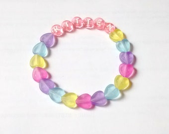KITTEN bracelet  ~  kawaii bracelet, kitten play, tumblr bracelet, fairy kei, pastel grunge bracelet, beaded bracelet, rave kandi ~ ~