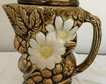 Vintage Ceramic Coffee Pot - Japanese Ceramics - Inarco Ceramic Coffee Pot - Ceramic Pitcher