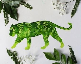 Jungle Tiger Watercolour Giclee Print