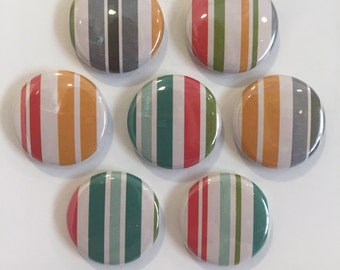 Striped Magnets - set of 7