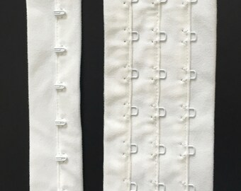 1 Metre White Continuous Hook & Eye Strip for Lingerie Making