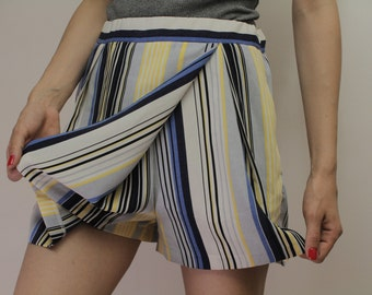 Vintage Strappy Pants Shorts 2in1 Skirt/Shorts  90s 80s Eu36 UK8