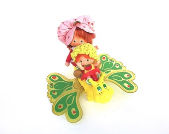 Strawberry Shortcake Flitterbit the Butterfly | Flitter-Bit | 1980s Vintage Strawberry Shortcake and Friends Display Accessories