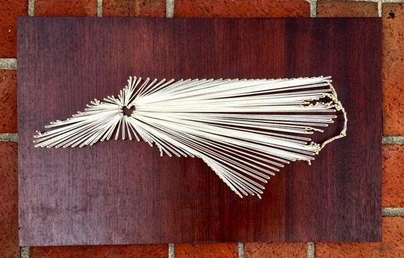 Custom État String Art |avec coeur sur n
