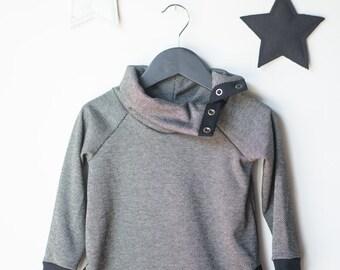 HIBOU - long sleeves sweater/cloak - black twill