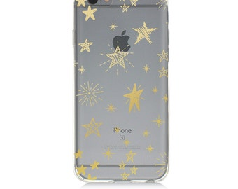 iPhone 7 Clear Case - Stars  - Protective TPU cover for iPhone 7 - 7 plus - iPhone 6s -  6s plus - Samsung Galaxy s5 s6 s7 Note 7
